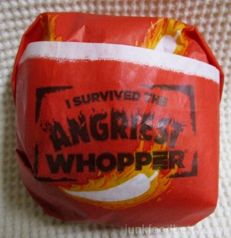 Burger King Angriest Whopper Sandwich Package