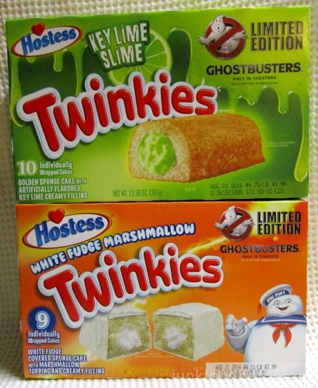 Hostess Key Lime Slime Twinkies and White Fudge Marshmallow Twinkies Limited Edition Ghostbusters Box